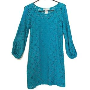 LAUNDRY By Design Lace Dress Turquoise Size 2